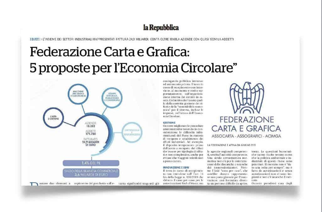 Federazione Carta e Grafica: 5 proposte per l'Economia Circolare