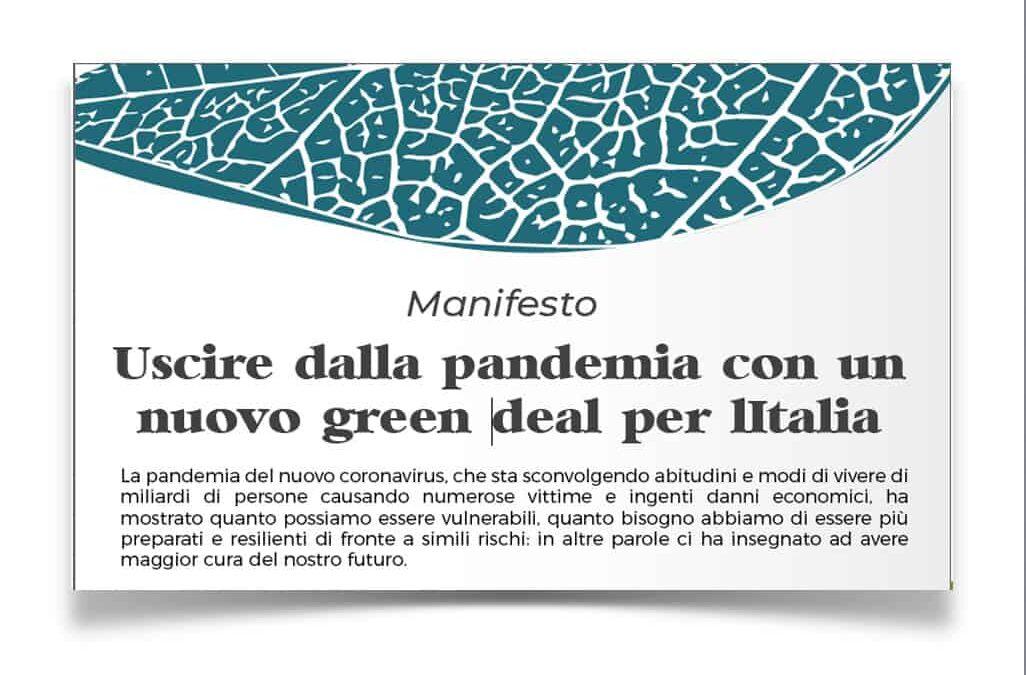 La Federazione aderisce al Manifesto per un nuovo Green Deal per l'Italia