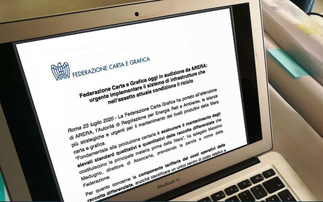 La Federazione all'Arera: mantenere alti gli standard delle raccolte differenziate