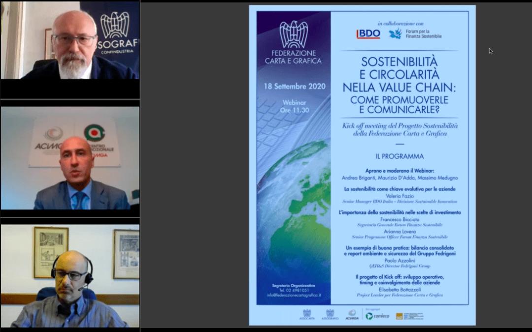 Presentato venerdì 18 il Progetto Sostenibilità della Federazione