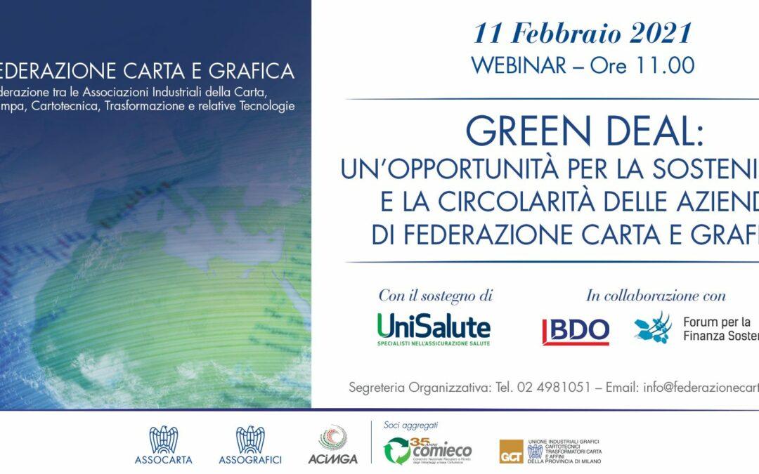 Sostenibilità e circolarità: un Manifesto della Federazione Carta e Grafica per il #Greendeal