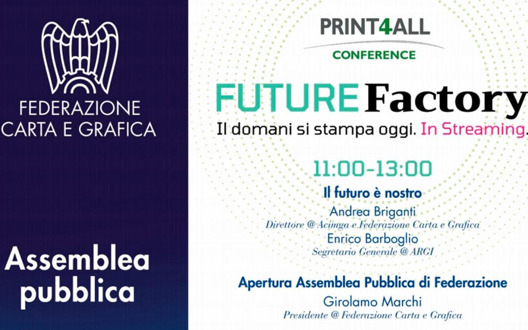 L'Assemblea annuale della Federazione il 24 giugno in Print4All Conference