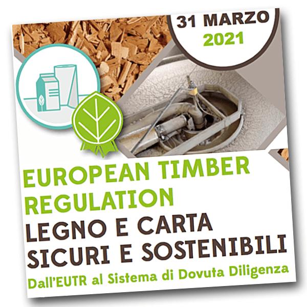 "31 marzo: webinar ""Timber Regulation"" sulle norme europee per carta e legno"