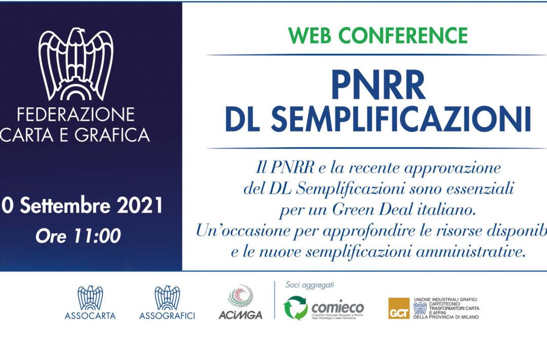 PNRR e DL Semplificazioni: webinar di approfondimento il 10 settembre